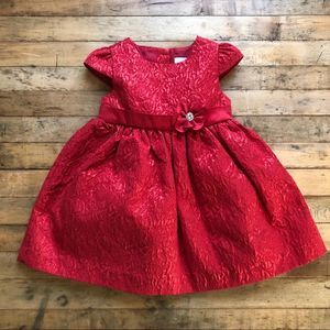 Camilla Red Toddler Jacquard Dress - 12 months